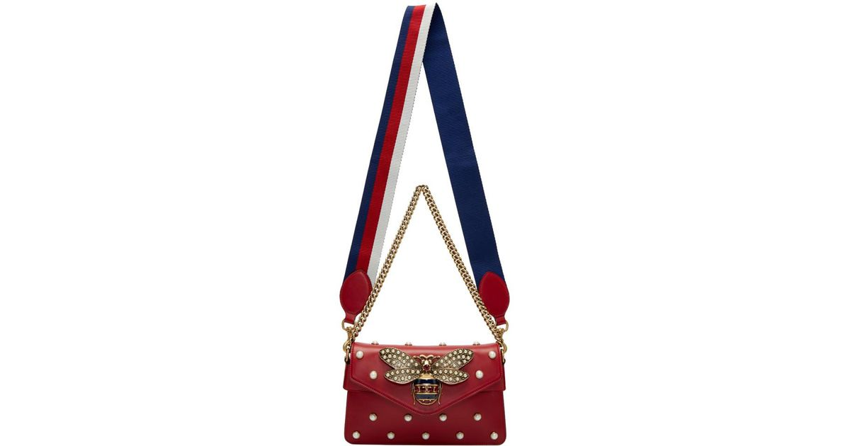 bdee4f43451 Lyst - Gucci Red Broadway Bag