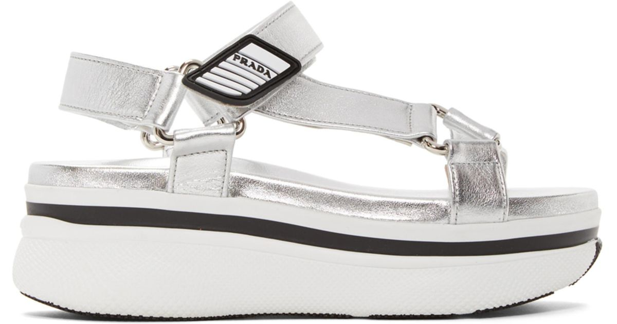 Prada Platform Velcro Sandals