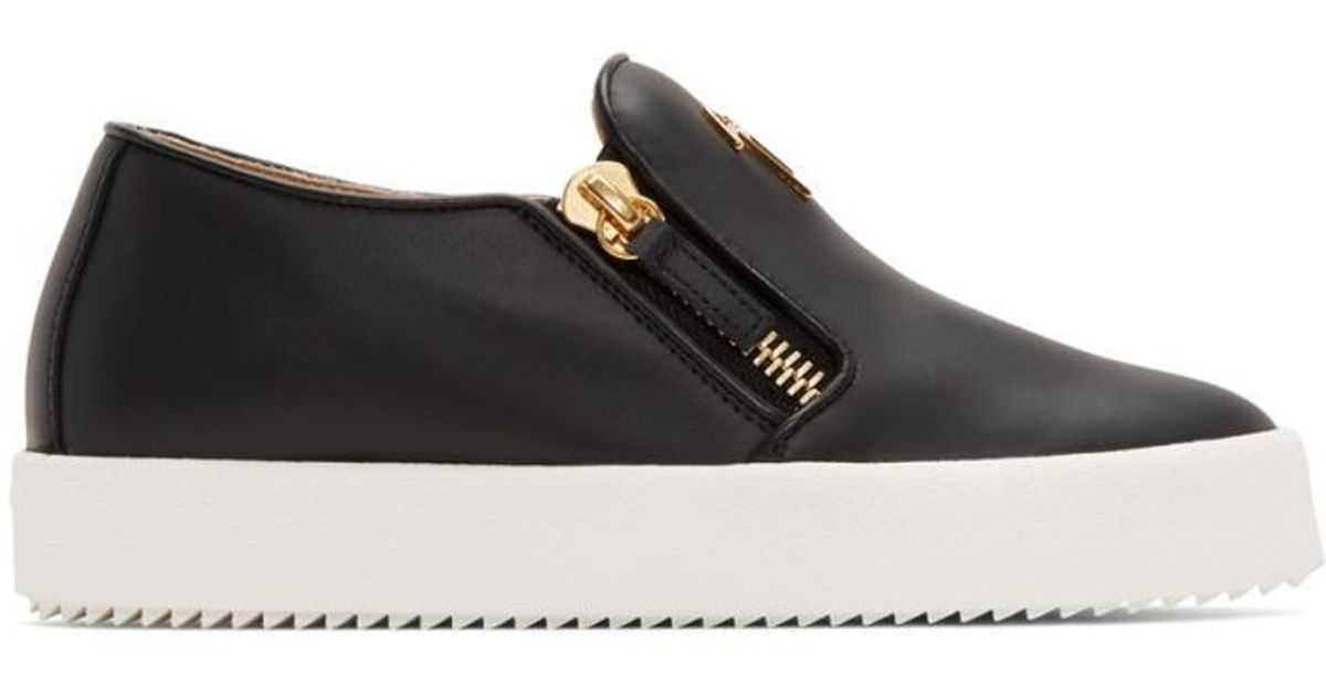 SSENSE Exclusive Black Glitter May London Slip-On Sneakers Giuseppe Zanotti uSVkVEK