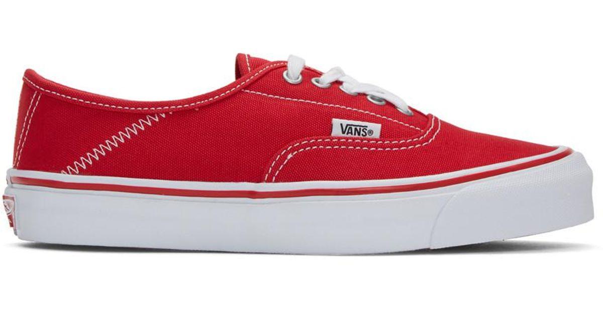 vans rouges