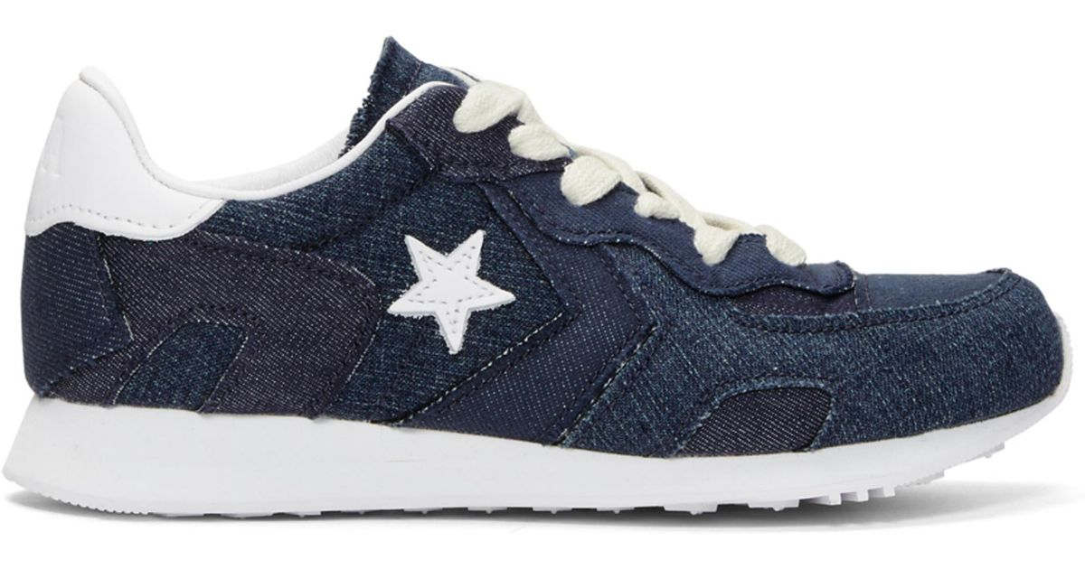 24a781871be Lyst - JW Anderson Indigo Converse Edition Denim Thunderbolt Ox Sneakers in  Blue for Men