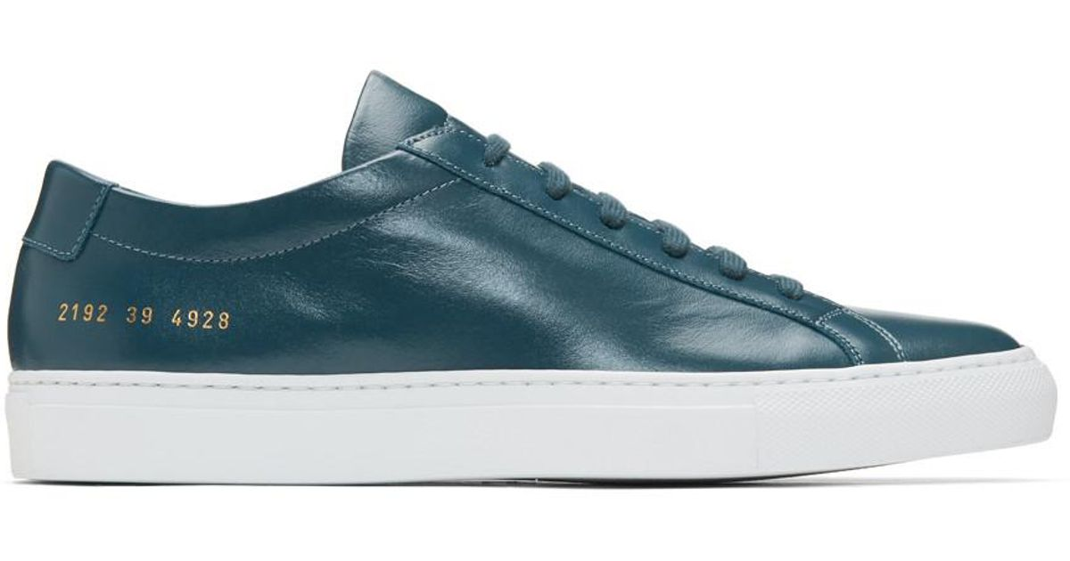 d54aa34324173 Lyst - Common Projects Navy Original Achilles Low Sneakers in Blue for Men