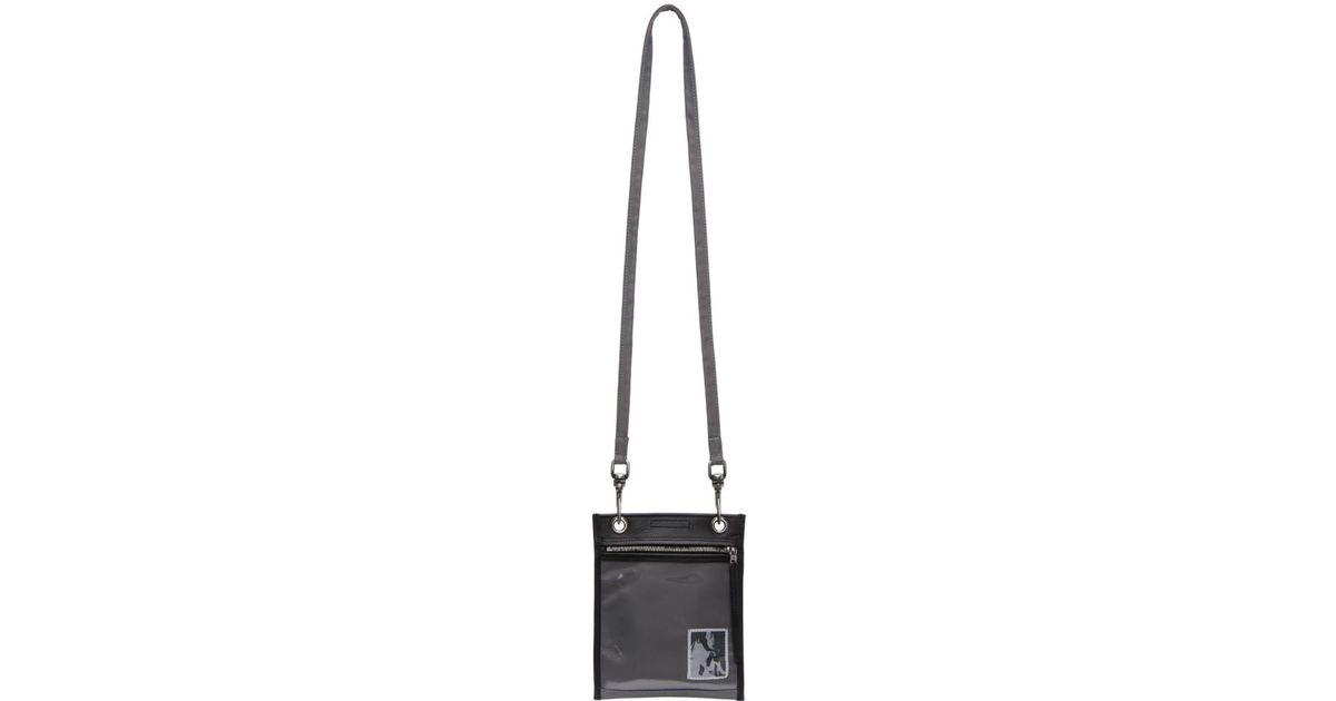 Lyst - Rick Owens Drkshdw Black And Grey Security Pocket Pouch in Black for  Men d0561e28ce432