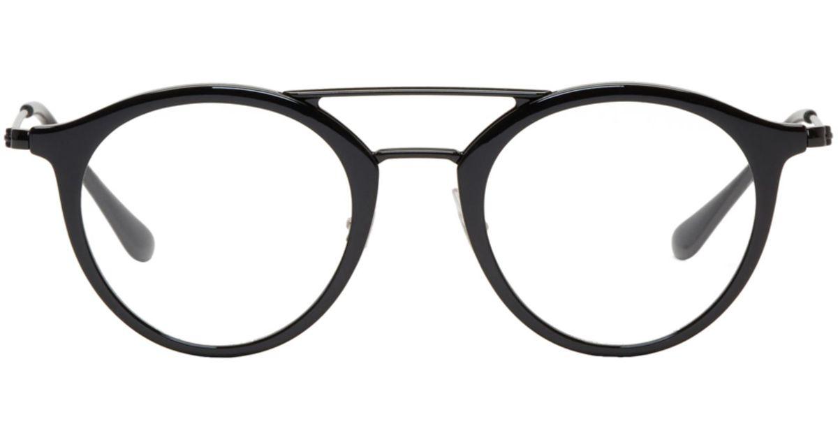 f96c7ed9f2 Lyst - Ray-Ban Black Highstreet Glasses in Black for Men