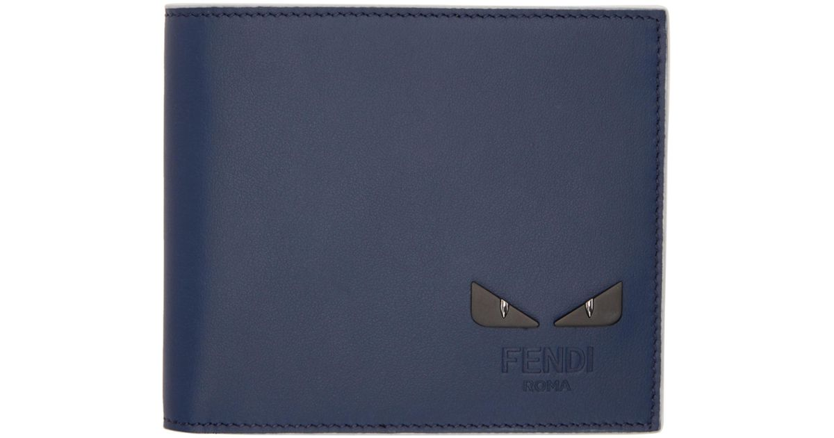 f768cb6cba Fendi Blue I See You Bifold Wallet in Blue for Men - Save 33% - Lyst