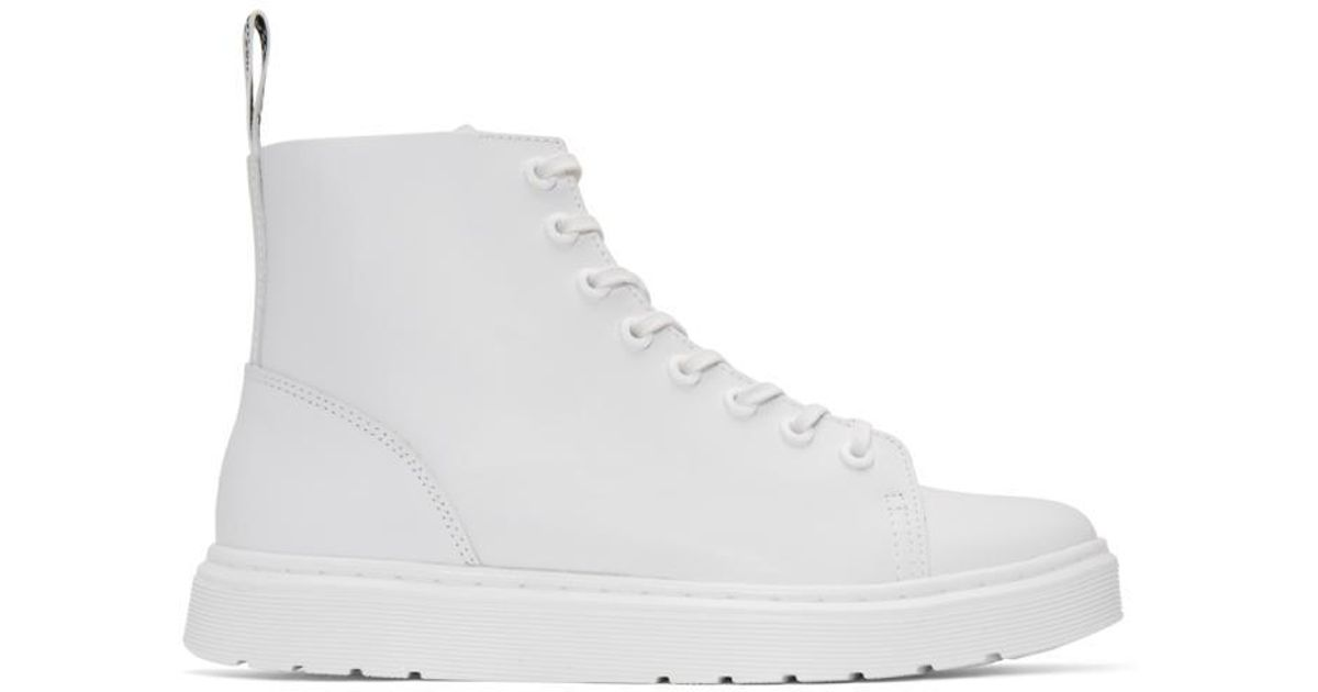 3be9954fbfd938 Lyst - Dr. Martens White Talib Boots in White for Men