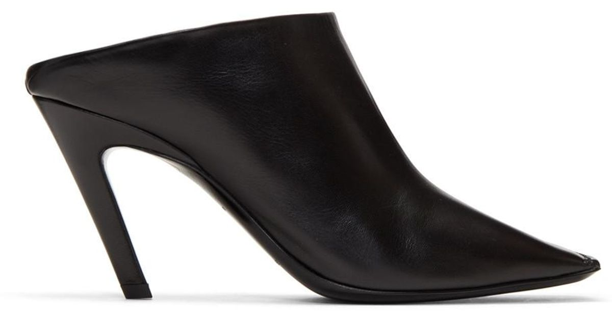 Balenciaga Square Slash Heel Mules