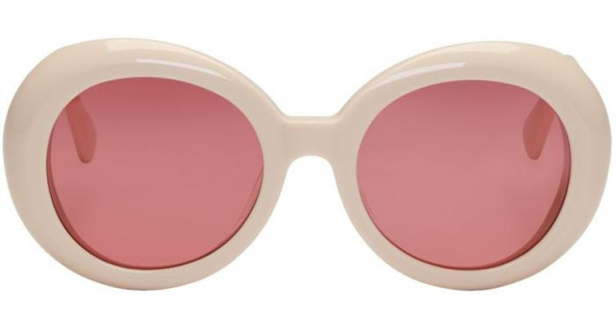 cba14a01252b Lyst - Gentle Monster Off-white  red Pocket  Sunglasses in White for Men