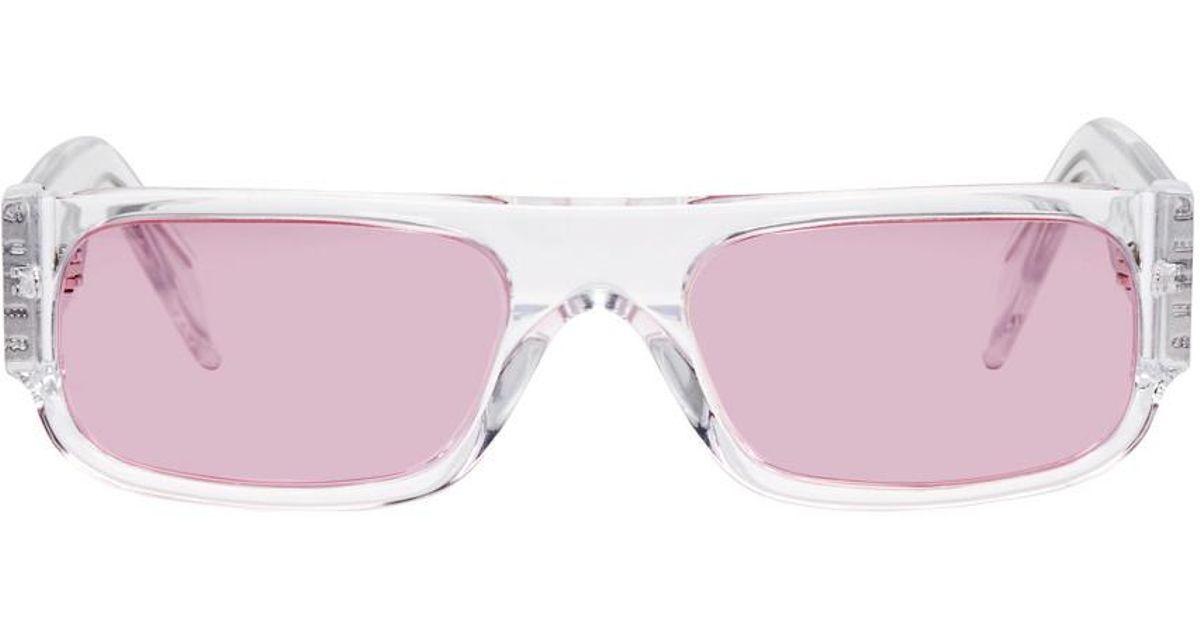 Lyst - Lunettes de soleil transparentes et roses Glossy Smile exclusives a  SSENSE Retrosuperfuture pour homme en coloris Rose fa8eee9acafe