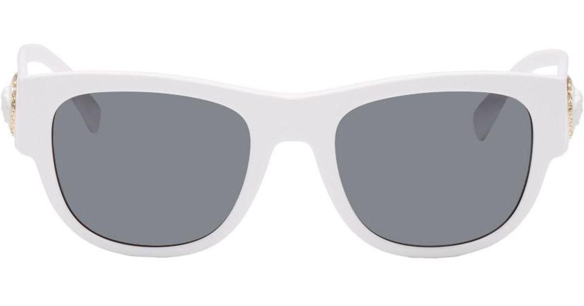 caae40b4f5c4 Versace White Medusa Ares Sunglasses in White for Men - Lyst
