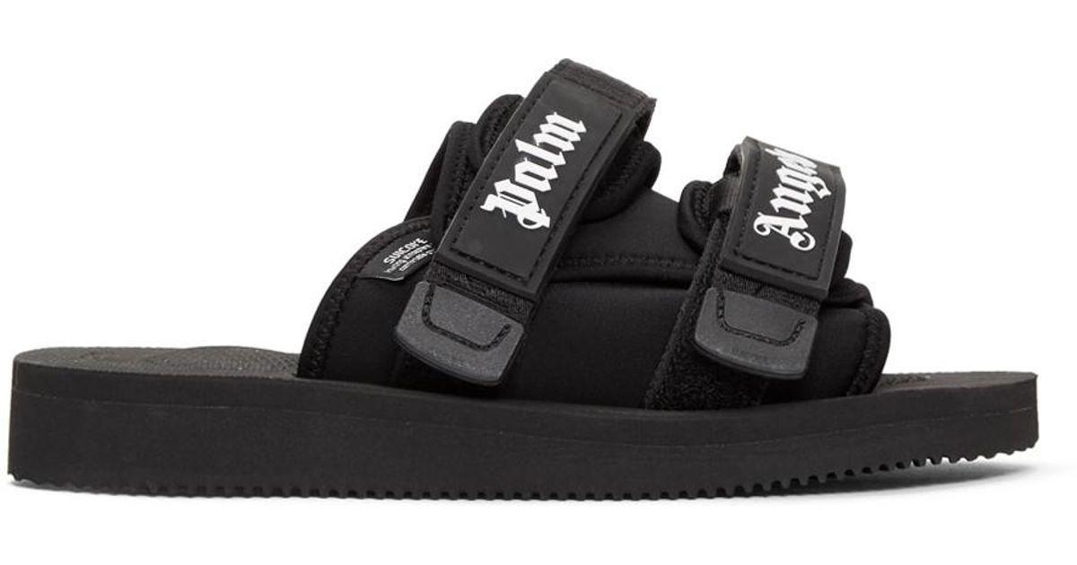 ccbe0ed76699 Lyst - Palm Angels Black Suicoke Edition Slides in Black for Men