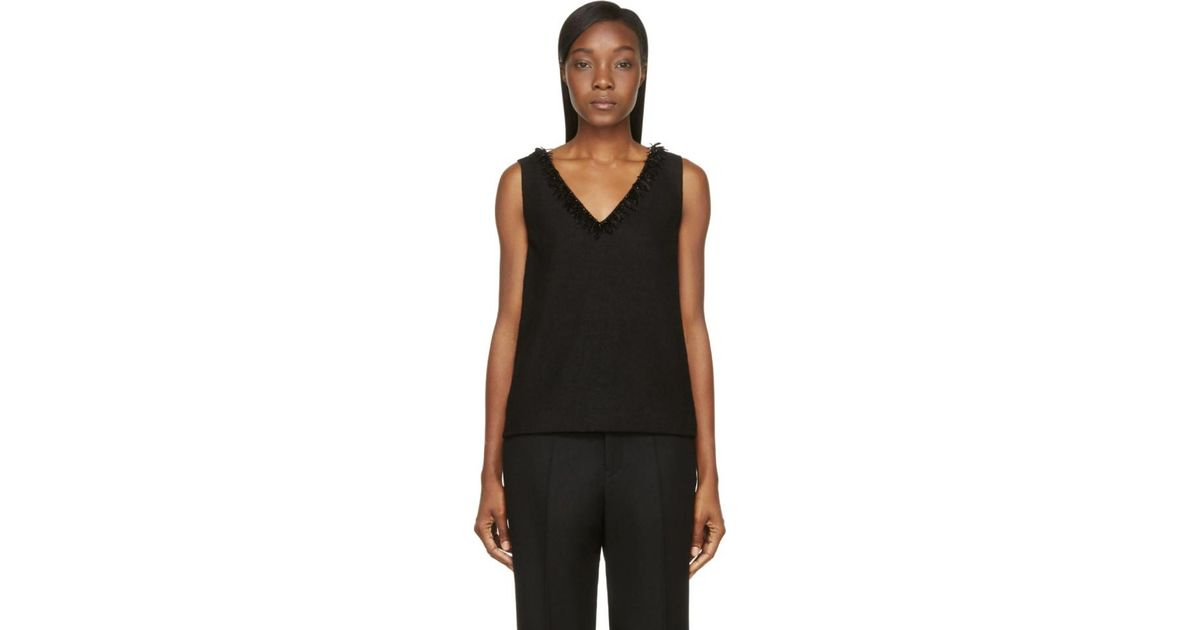 Black Wool Crepe Wynn Tank Top Mother Of Pearl Outlet Supply Cheap Sale Cheapest Get Authentic Online LlFz1DCvMZ