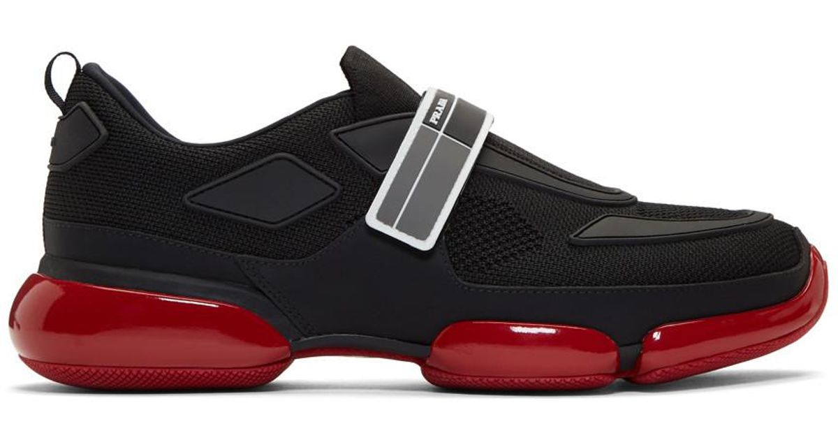 Prada Shoes Black And Red
