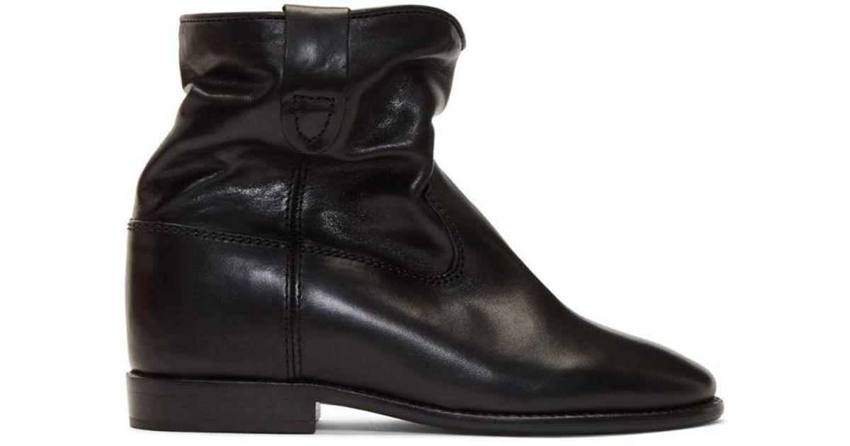 isabel marant black cluster boots in black lyst. Black Bedroom Furniture Sets. Home Design Ideas