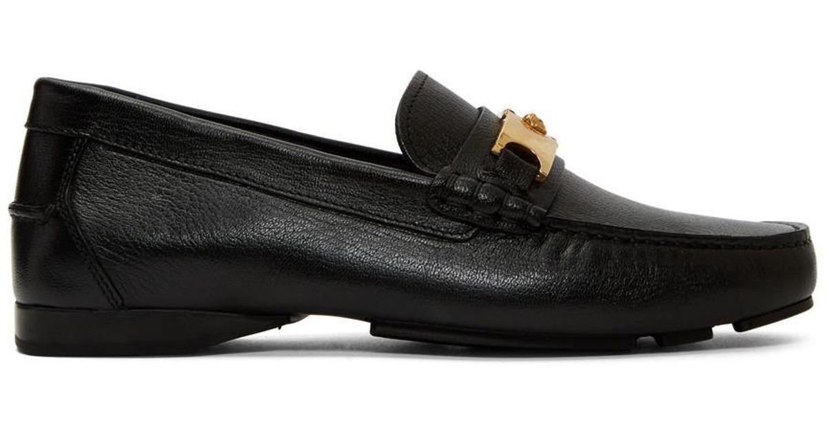 031d5772f69 Lyst - Versace Black Medusa Buckle Loafers in Black for Men