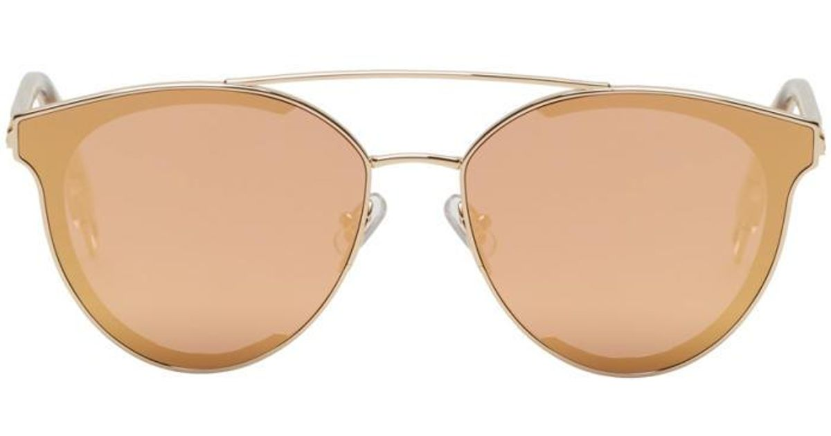b3509cae4499a Lyst - Gentle Monster Gold   Pink Last Bow Sunglasses in Metallic for Men