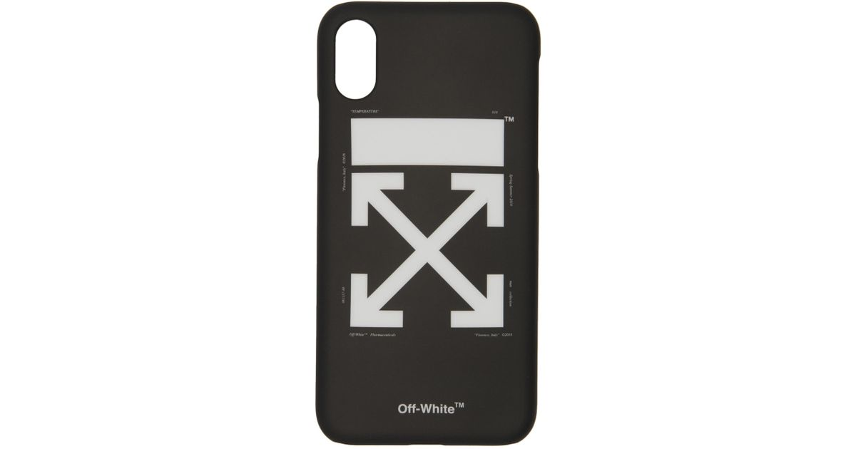 Lyst - Off-White c o Virgil Abloh Black Arrows Iphone X Case in Black a0e181d0d
