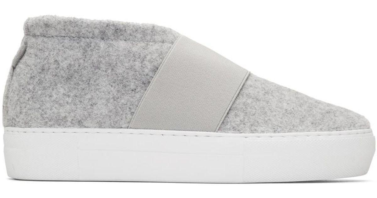 Diemme Grey Felt Cassola Mid Sneakers jJFwXKCRp9