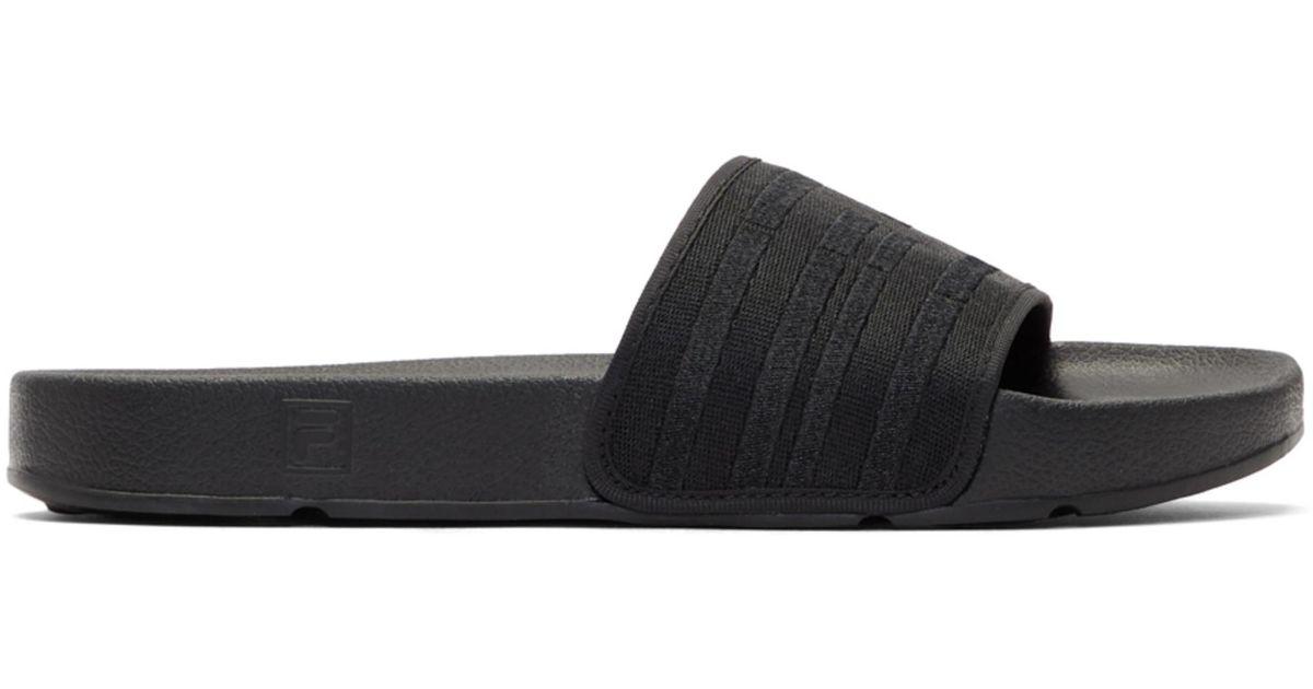 641170b796b Lyst - Baja East Black Fila Edition Drifter Slides in Black
