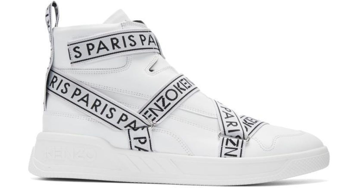 Kenzo Sommets Coby Hi - Blanc XfVhypw