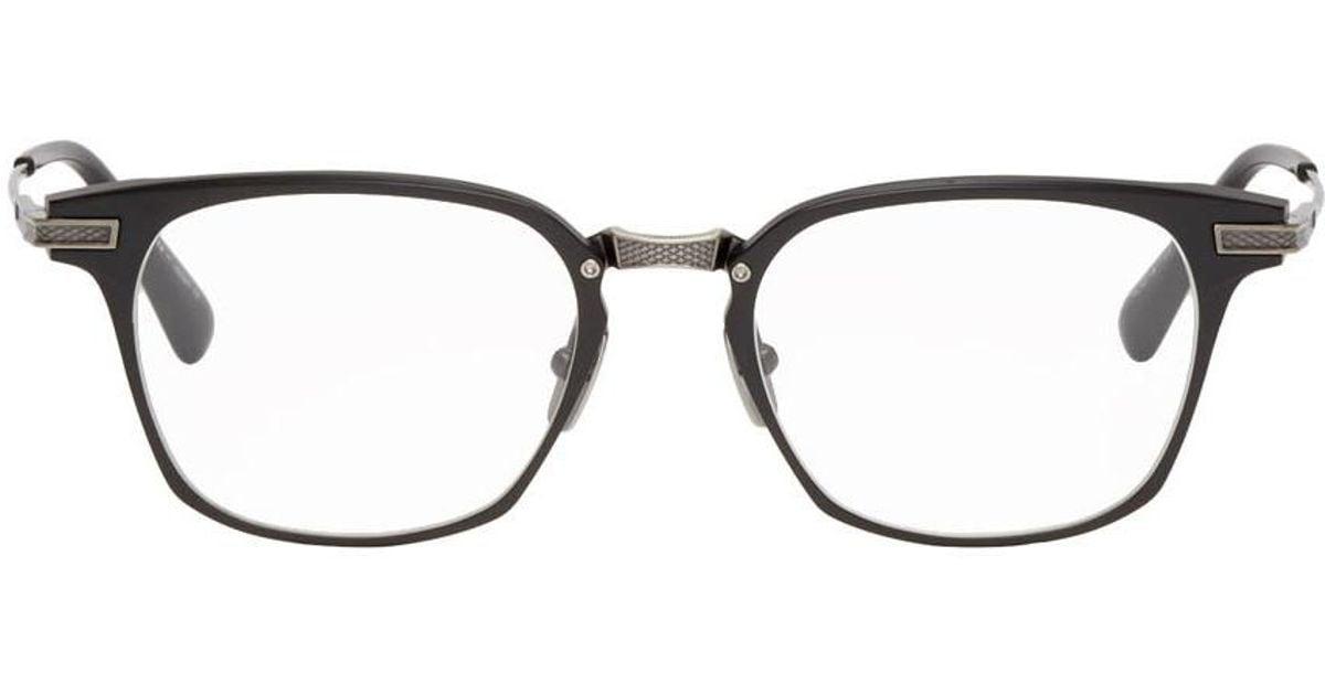 c7b83840a15c DITA Black And Silver Union Square Glasses for Men - Lyst