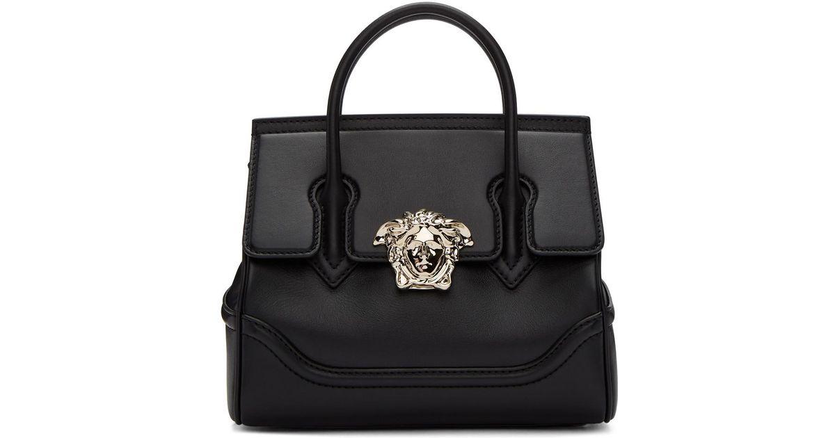 1af3d38c14e5 Versace Black Medium Medusa Palazzo Bag in Black - Lyst