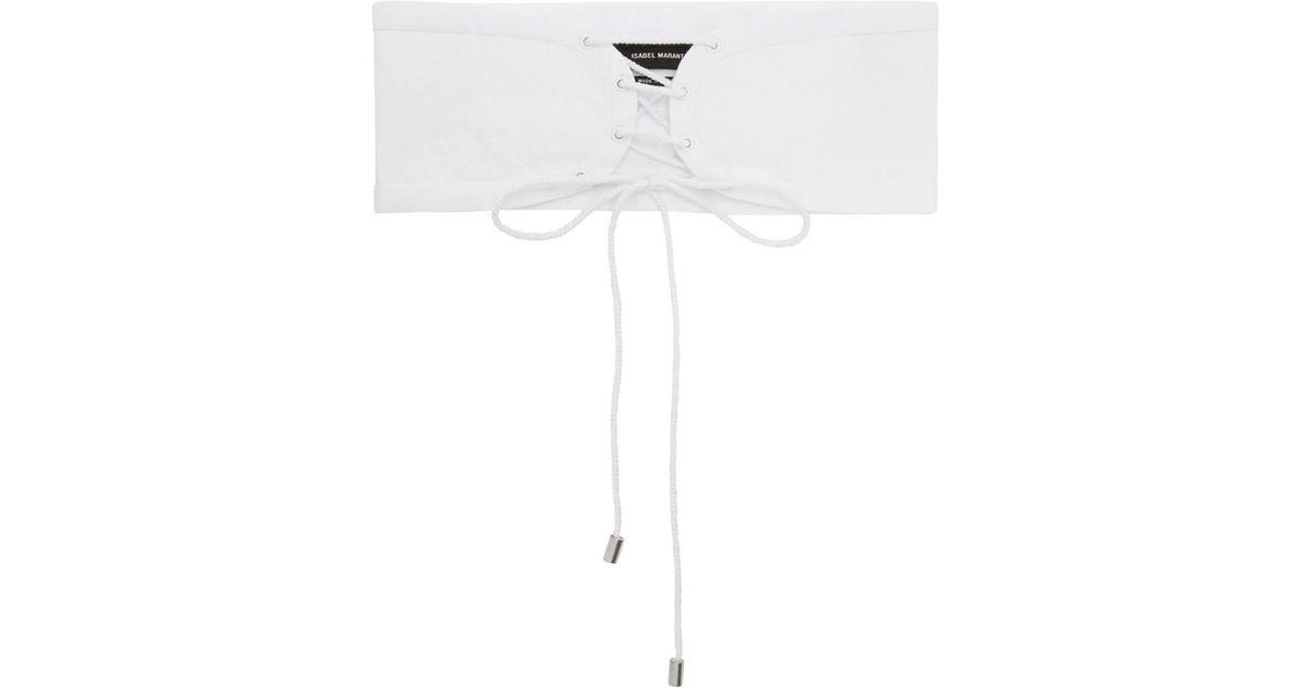 Zeonor Lace-up Cotton Waist Belt - Black Isabel Marant dJ4BB