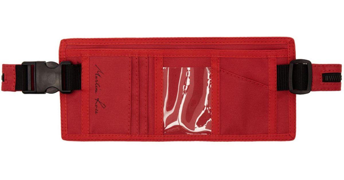 Porte-monnaie Rouge Rose Waistpack Martine lBSMj