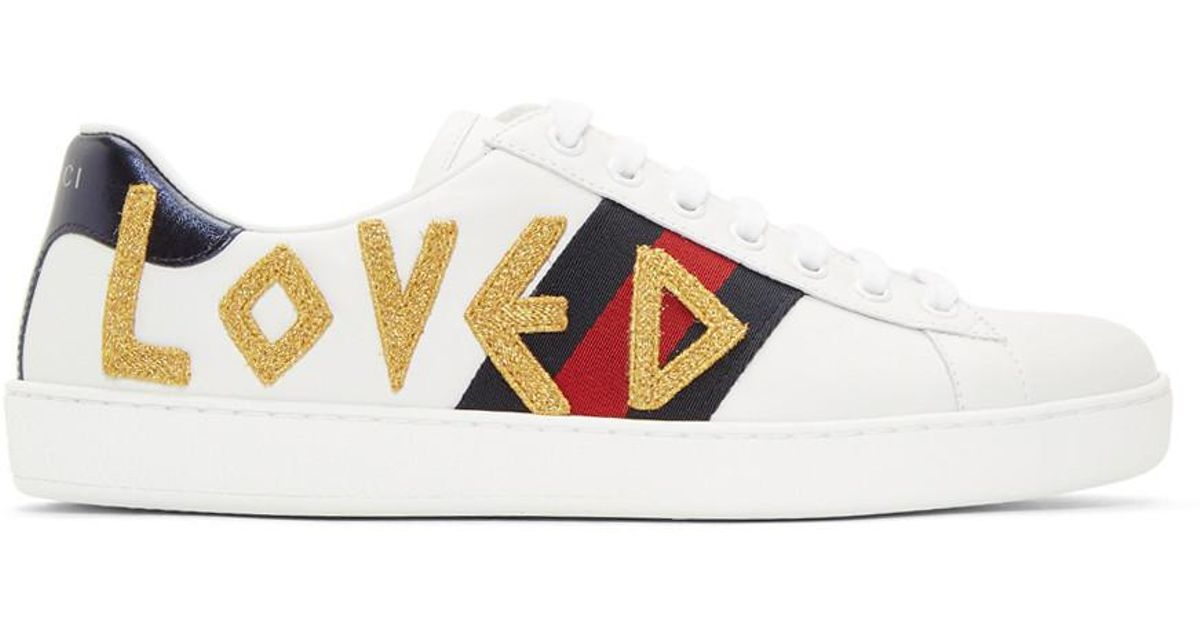 ddab89f99 Gucci White Loved New Ace Sneakers in White for Men - Lyst