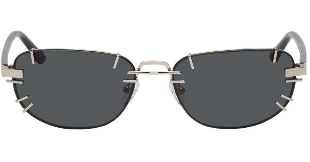 7c283e7405 Lyst - Y. Project Silver And Black Linda Farrow Edition Trinity Sunglasses  in Metallic for Men