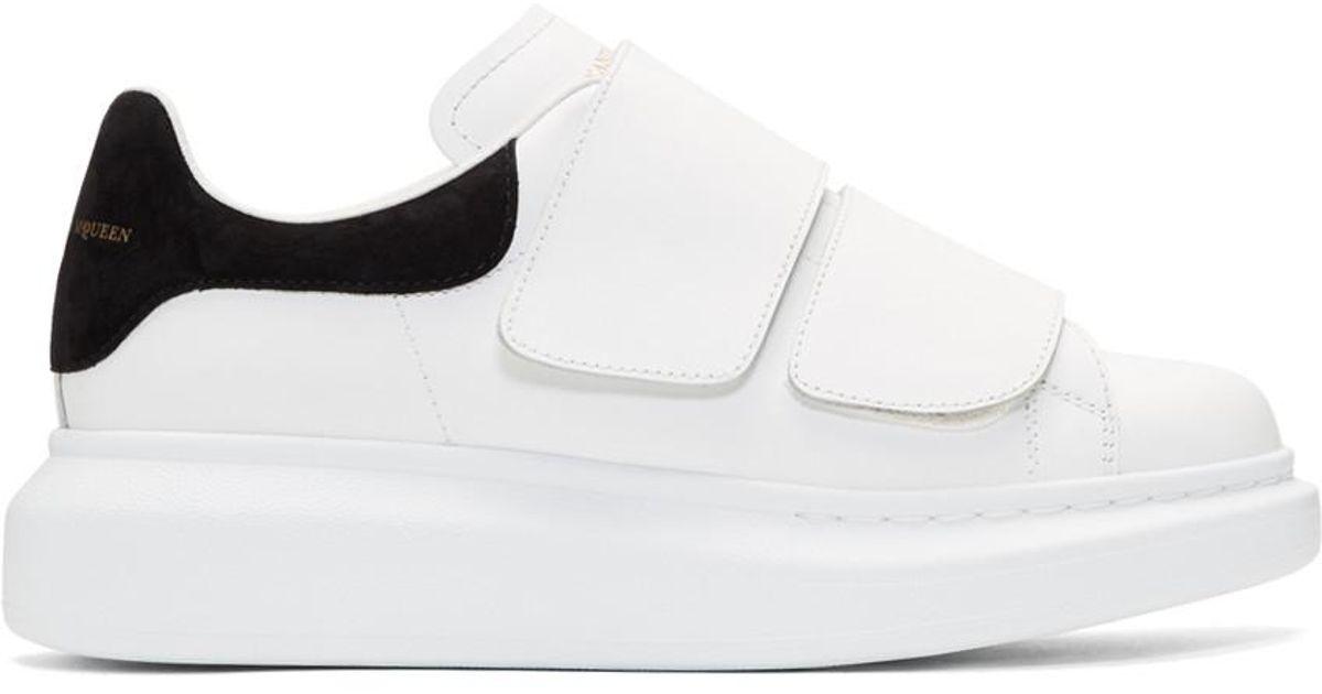 c450dc5c2203 Lyst - Alexander McQueen White Oversized Strap Sneakers in White
