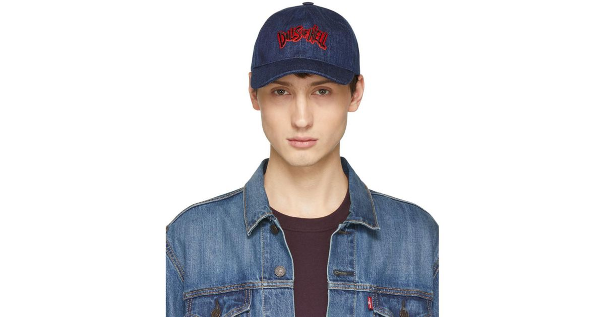 4cfd10a4d43 Lyst - A.P.C. Indigo Dolls Of Hell Aaron Cap in Blue for Men
