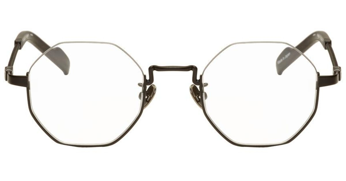 fd156a424 Yohji Yamamoto Black Hexagonal Glasses in Black for Men - Lyst