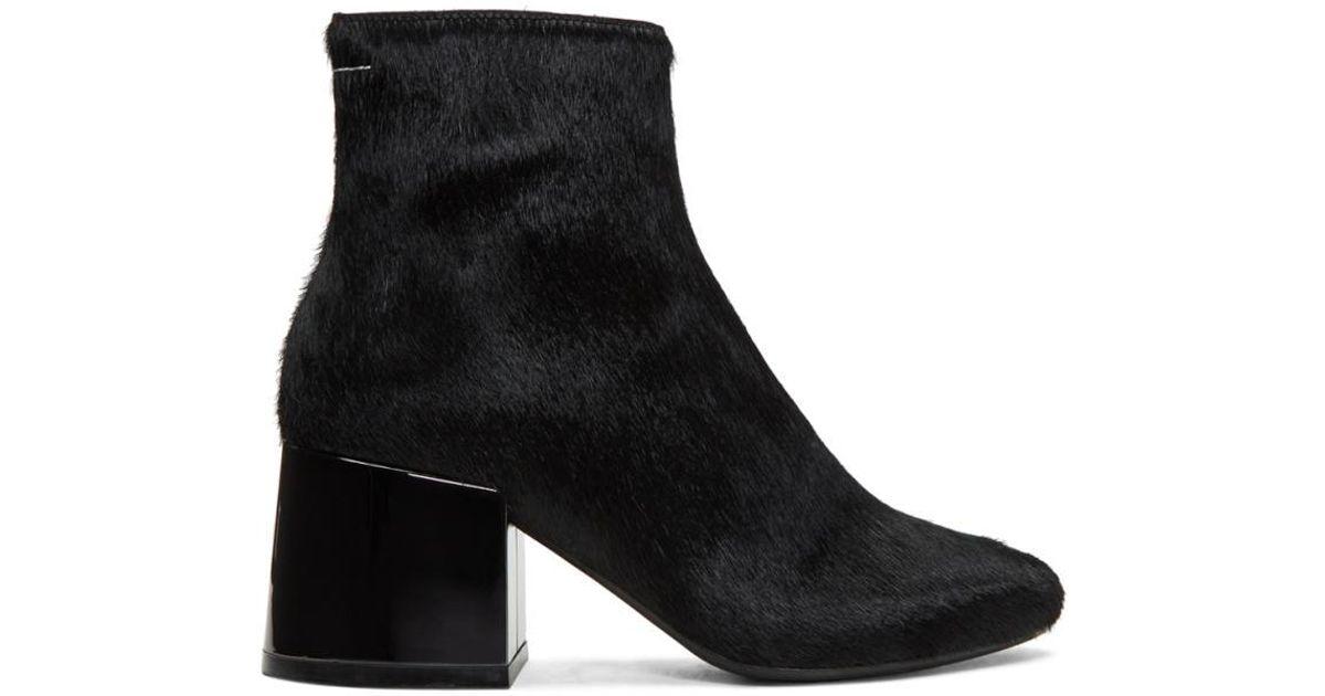 MM6 Maison Martin Margiela Black Pony Boots mHfHIm8v