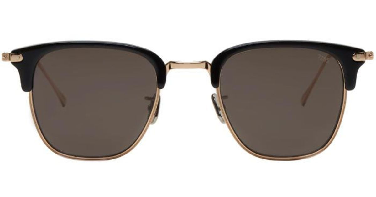 7f48d0fc0ffa Lyst - Eyevan 7285 Gold   Black Model 736 Sunglasses in Metallic