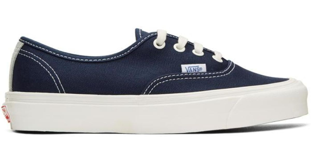 Navy Checkerboard OG Authentic LX Sneakers Vans qchkB