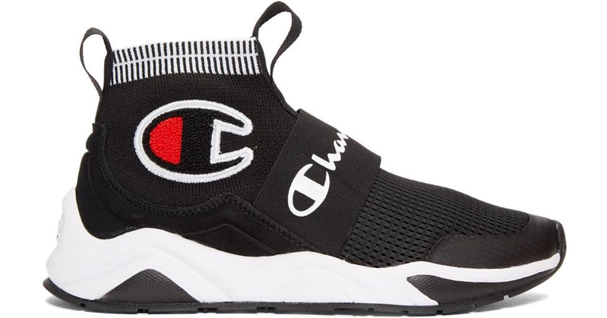 a7a2073c4d477 Lyst - Champion Black Rally Pro High-top Sneakers in Black - Save 36%