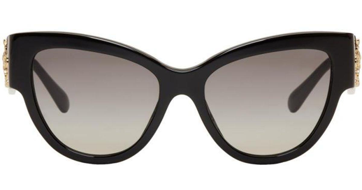 198eafbb85905 Versace Black Rock Icons Baroque Medusa Cat-eye Sunglasses in Black - Lyst