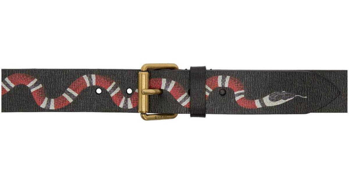 d0d1f0e9d20 Gucci Black Snake Belt in Black for Men - Lyst