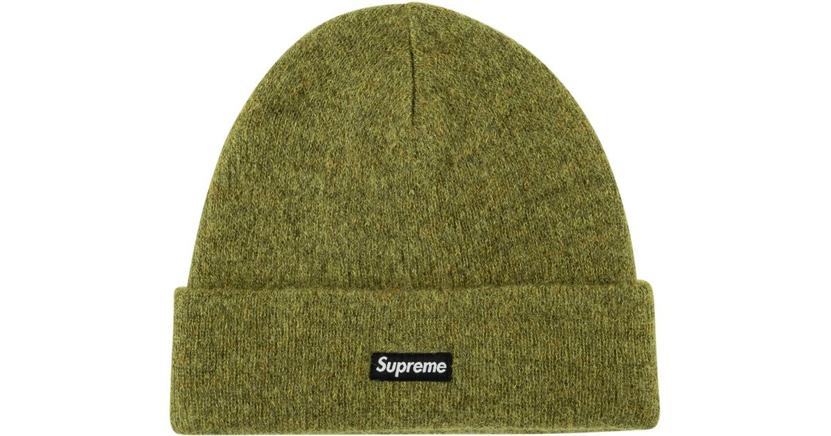 cf1f4ca3 Supreme Mohair Beanie in Green for Men - Save 9% - Lyst