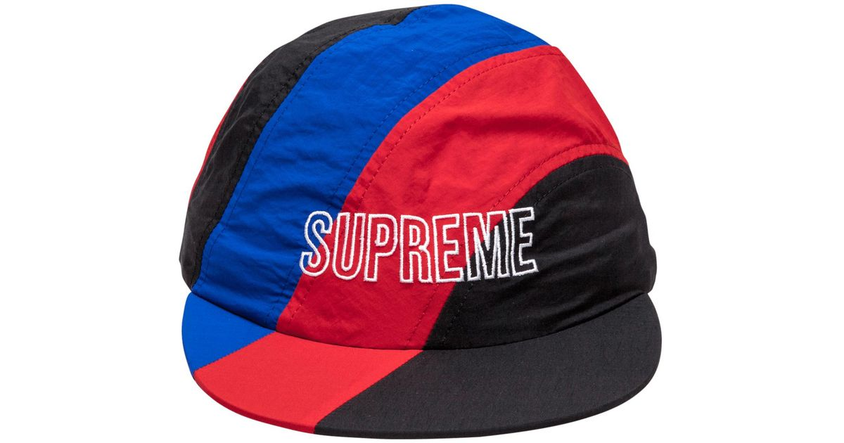 8c1dcce5bea ... switzerland lyst supreme diagonal stripe nylon hat in red for men fe911  5b452
