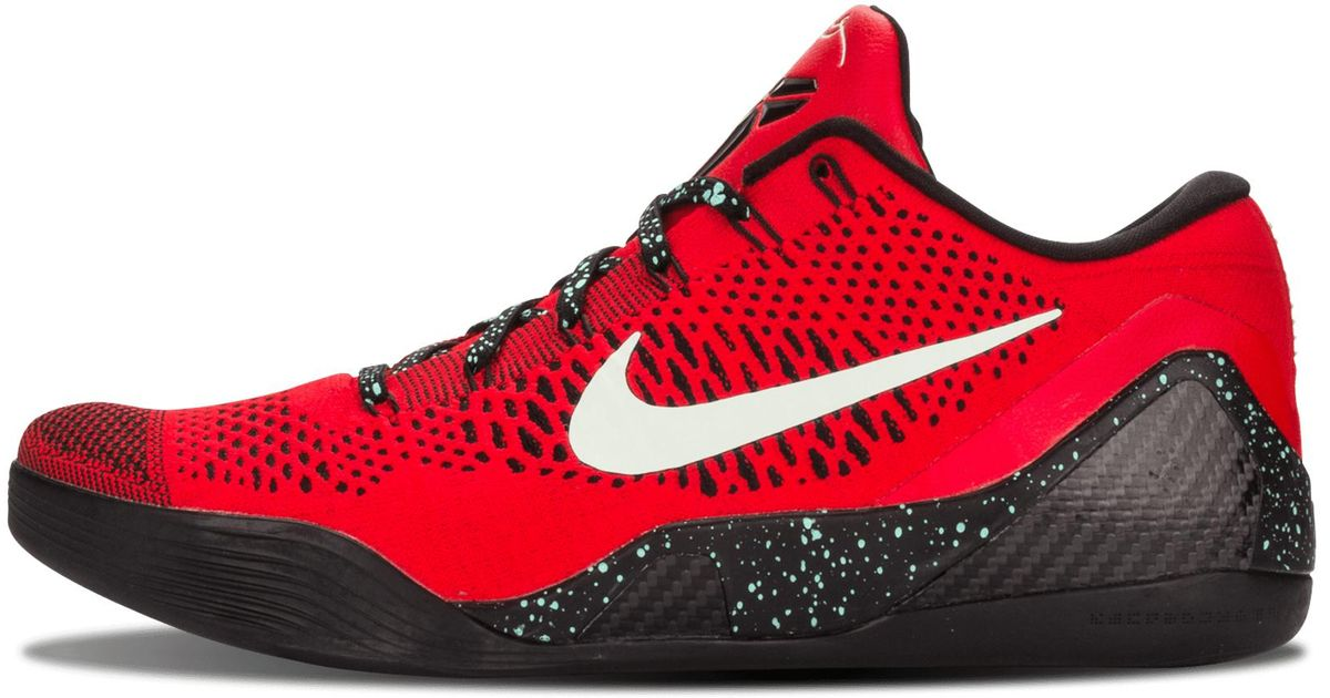 best service 2a8f8 9be05 Nike Kobe 9 Elite Low in Red for Men - Lyst