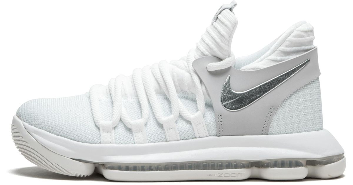 5f9f6052ff93 Lyst - Nike Zoom Kd10 (gs) in White for Men