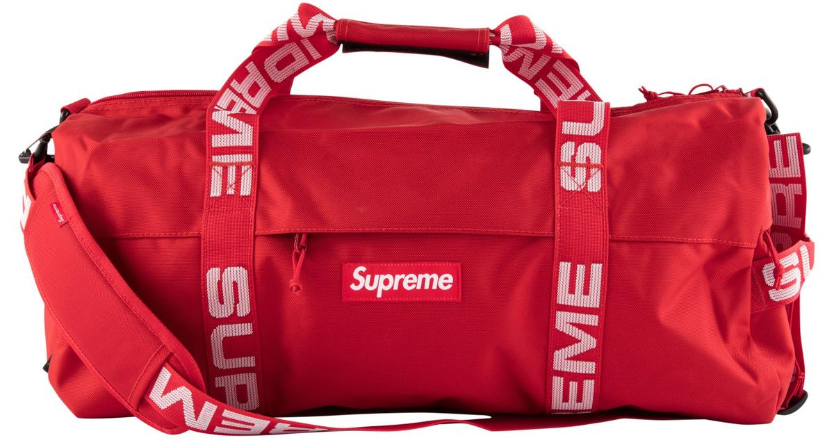 1ce68c8fd803 Lyst - Supreme Large Duffle Bag (ss18) Red in Red for Men - Save 54%