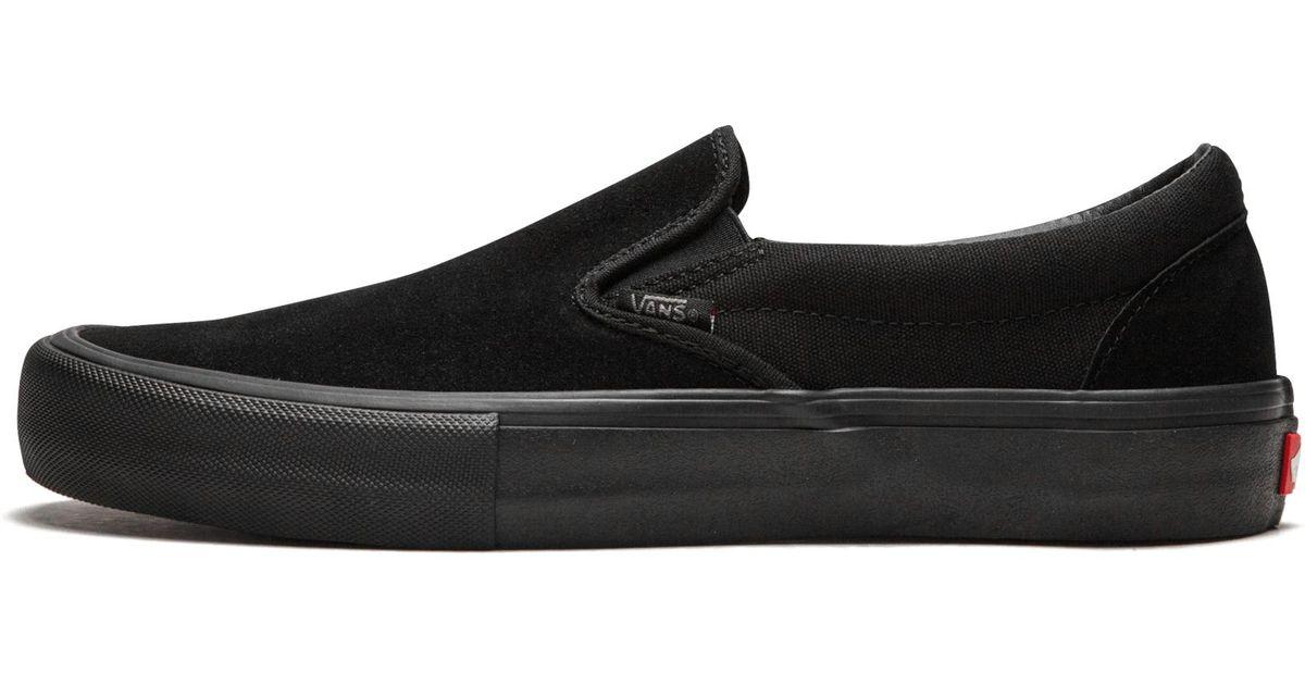 12e60279f909 Vans Slip-on Pro in Black for Men - Lyst