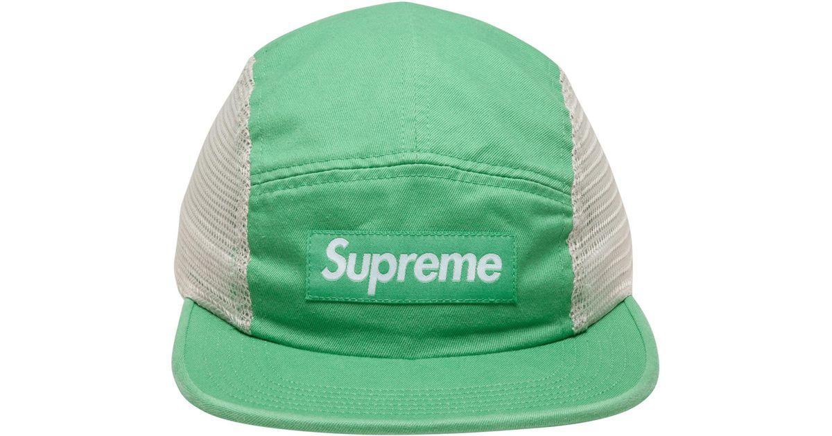 Supreme Mesh Side Panel Camp Cap in Green for Men - Save 23% - Lyst 9531de43ecc