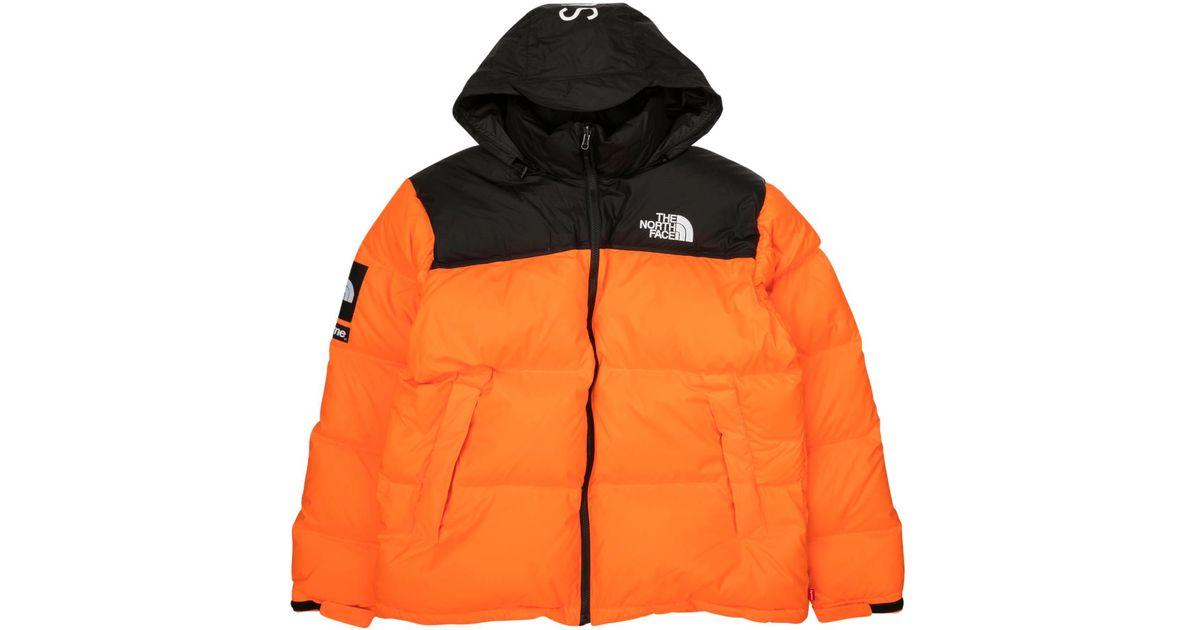 Supreme  the North Face Nuptse in Orange for Men - Lyst 9608a6fd9