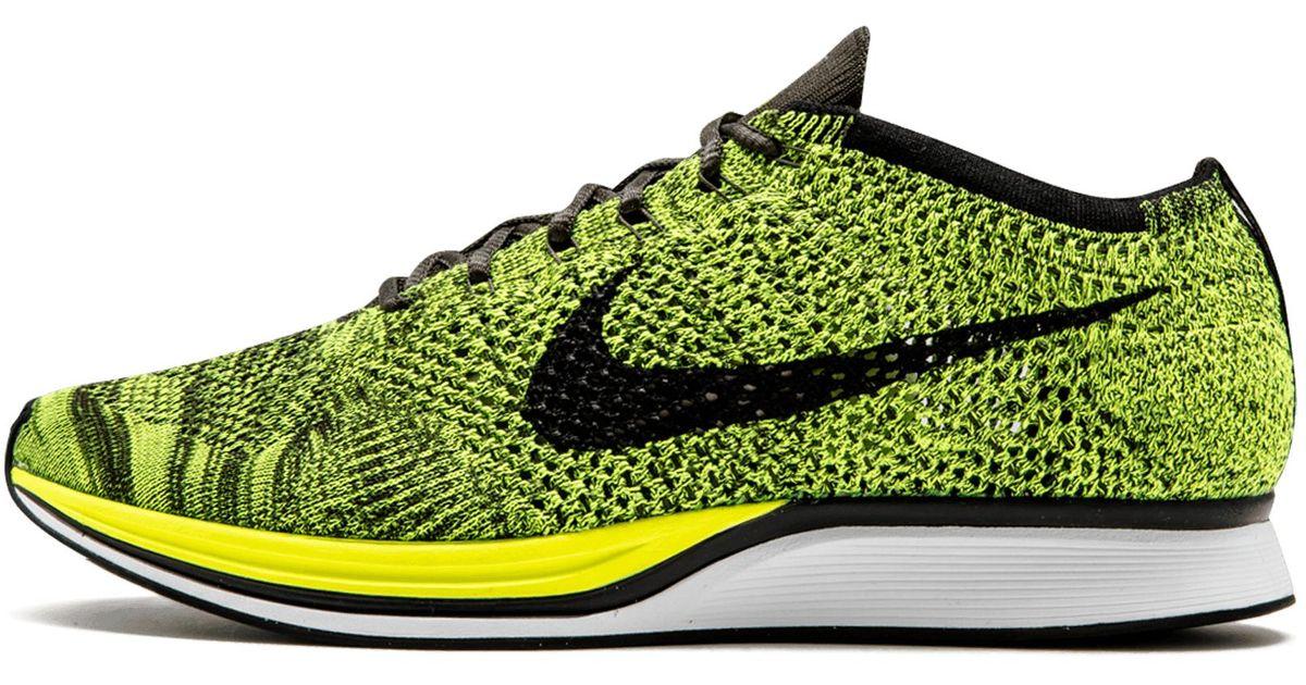 promo code a768e 1090d Lyst - Nike Flyknit Racer in Green for Men