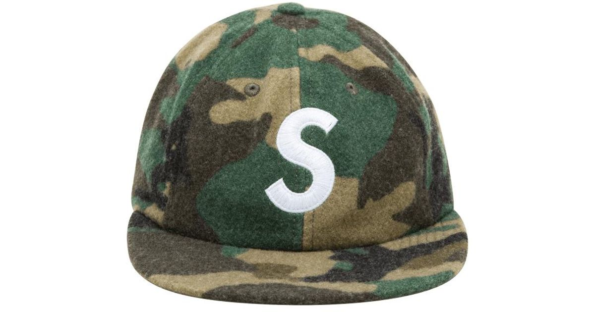 1431f215803 Lyst - Supreme Wool S Logo 6-panel Cap in Green