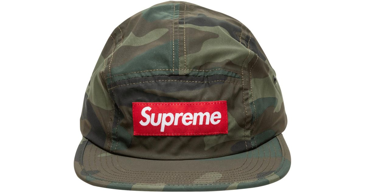 Supreme Reflective Camo Camp Cap in Green for Men - Lyst 42d51c462f8